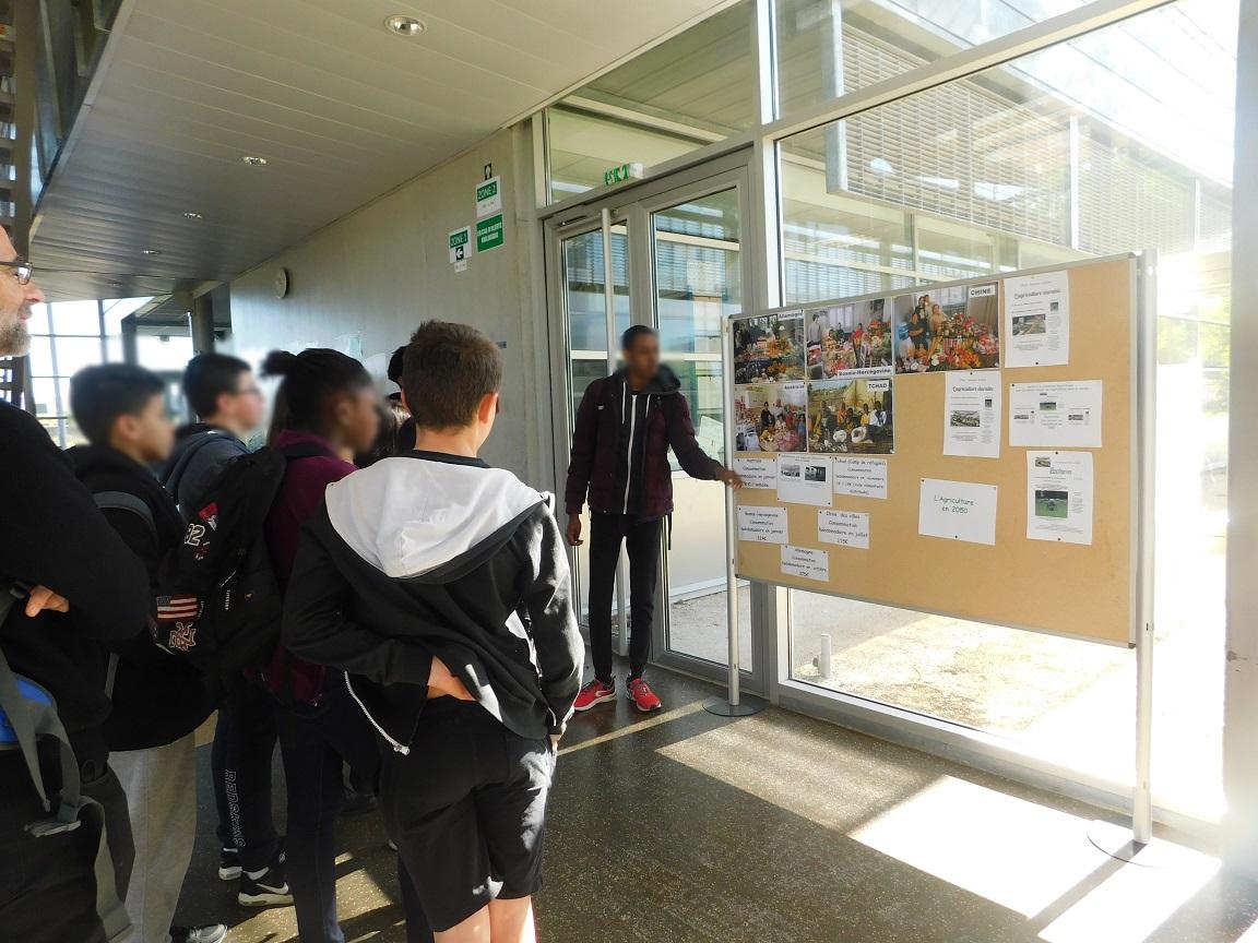 Présentation du travail mené par les élèves de 2SNA et de 2MELECA autour de l'agriculture et l'alimentation dans le monde